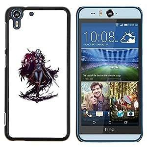 Dragon Case - FOR HTC Desire EYE M910x - swordsman game character white woman - Caja protectora de pl??stico duro de la cubierta Dise?¡Ào Slim Fit