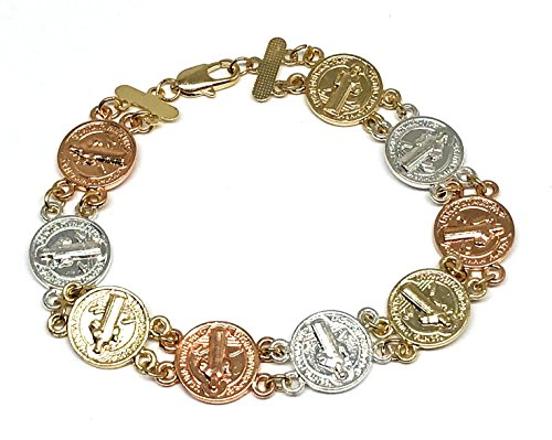 b140894bf1db Fran   Co. Gold Plated Saint Benedict Bracelet 7.5