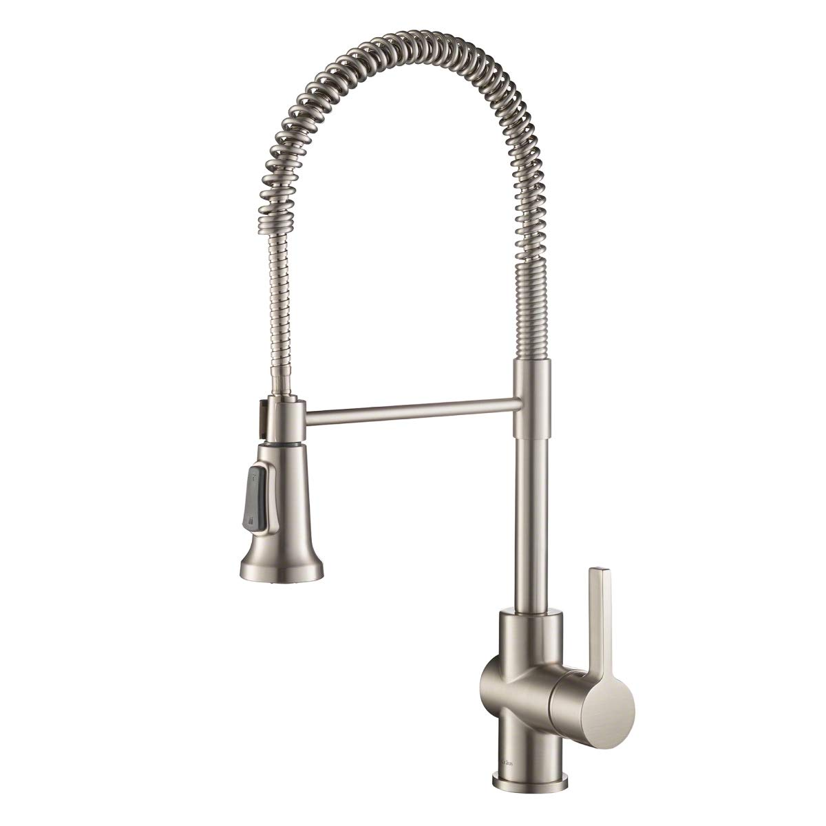 Kraus Britt Spot Free Stainless Pre-Rinse/Commercial Kitchen Faucet with Dual Function Sprayhead in all-Brite Finish, KPF-1690SFS by Kraus (Image #1)