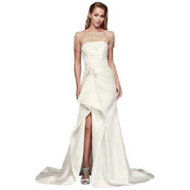 David's Bridal Sheath Wedding Dress
