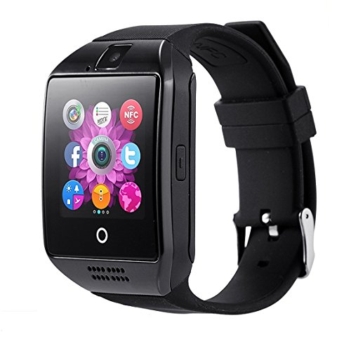 [Updated Version]Bluetooth Touch Screen Smart Watch,OURSPOP 2.5D Radian Bluetooth Smart WristWatch,Unlocked Watch Cell Phone With GSM SIM Camera for Android iPhone Men Women Kids