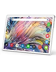 Tablet PC 10.1 inches, Android 10.0 Pie Tablet PC, with 32GB ROM/128GB expansion, dual SIM card 2MP+ 5MP camera, WiFi, Bluetooth, GPS, quad-core, IPS HD display, Google certified tablet [2021 latest silver]