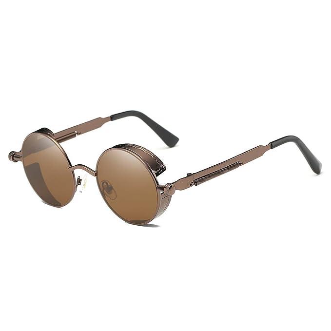 Qualität zuerst Geschäft günstiger Preis LANOMI Retro Sonnenbrille Rund Vintage Steampunk Metallrahmen Damen Herren  Verspiegelt Brillen UV400