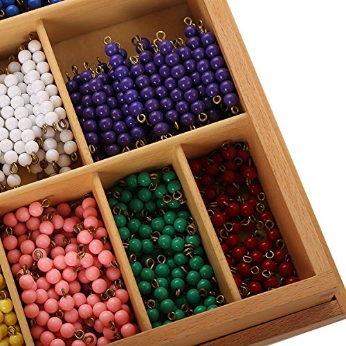 Montessori Math Materials Bead Decanomial with box for Early Preschool Learning Toy by Leader Joy Montessori USA (Image #2)