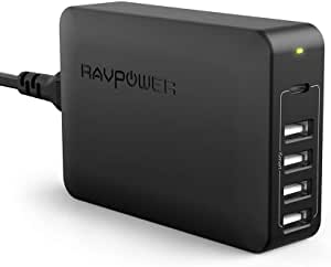 USB C Pd Charger, RAVPower 60W 5-Port USB Desktop Charging Station with 45W Power Delivery Port, Compatible with iPhone 11 Pro Max XR XS X SE 2, Ipad Pro 2018, MacBook, Galaxy S9 S8, Nintendo and More (AU Plug, 240V)
