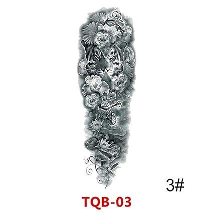 ZHAOHH Manga del Brazo Grande Tatuaje Maori Potencia Totem ...