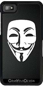 Funda para Blackberry Z10 - De Fibra De Carbono En El Anonimato