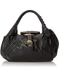 Braid Handle Accent Spy Handbag - Choice of Colors