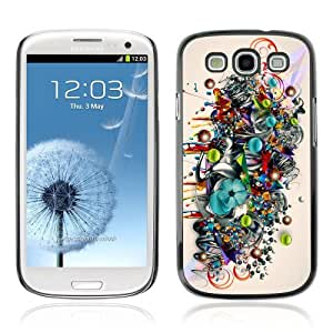Designer Depo Hard Protection Case for Samsung Galaxy S3 / Colorful Art Pattern