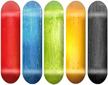 Blank Deck Assorted Colors Size 8.0