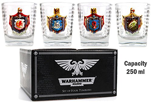 Warhammer 40,000 Set of 4 Glass Tumblers - Chapter