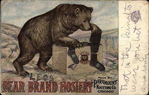 Vintage Advertising Postcard: Bear Brand Hosiery Advertising ()