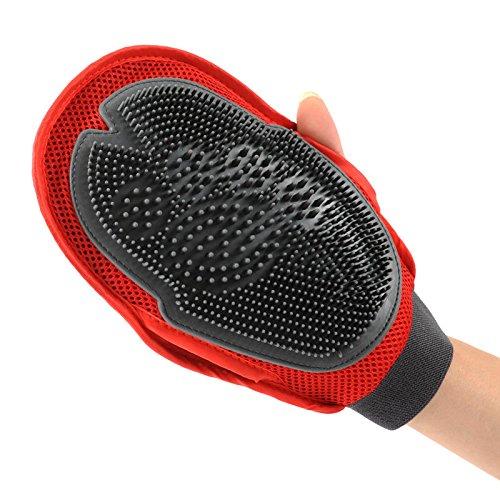 [KonThai Pet Deshedding Cleaning Brush Magic Glove Dog Cat Hair Massage Grooming Groomer] (Axolotl Costume)
