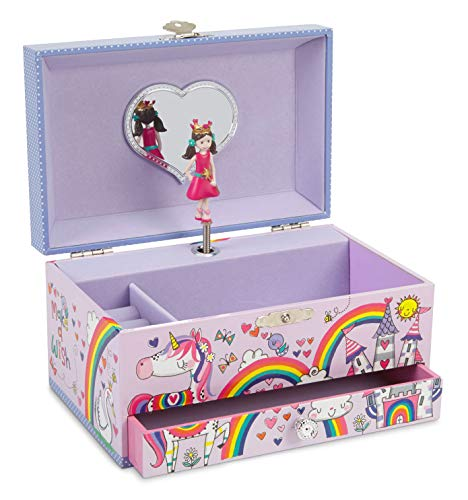 Sugar Plum Toy Box (Jewelkeeper Unicorn Princess Musical Jewelry Box with Pullout Drawer, Rainbow Glitter Finish, Dance The Sugar Plum Fairy)
