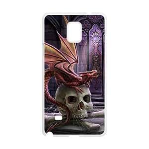 Diy Dragon Skull Phone Case for samsung galaxy note 4 White Shell Phone JFLIFE(TM) [Pattern-2] Kimberly Kurzendoerfer
