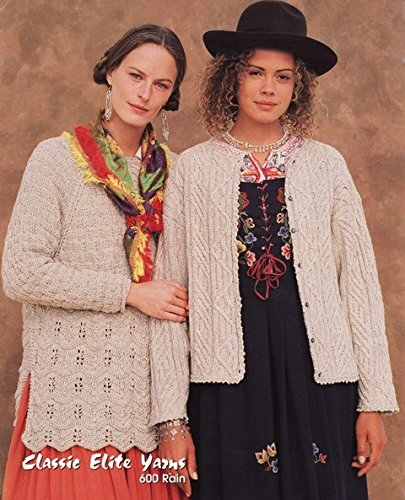 Elite Cotton Pebbles - Classic Elite Yarns Knitting Pattern #600 Vienna, Austria - Women's Tunic, Cardi