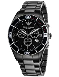 Emporio Armani Men's Ceramica AR1421 Black Ceramic Quartz Watch with Black Dial