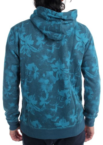 HUF Men's Floral Pullover Hoodie Small Navy