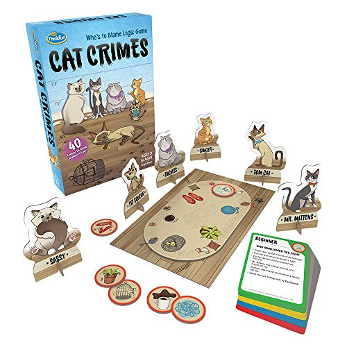 Cat Girl - ThinkFun Cat Crimes Logic Game and Brainteaser for Boys and Girls Age 8 and Up - A Smart Game with a Fun Theme and Hilarious Artwork