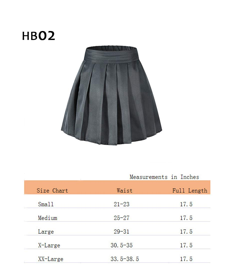 Beautifulfashionlife Girl's High Waist School Uniform Mini Skirt Tennis Shorts Dark Blue,S