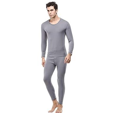 PARVAL Hombre Camisa de Dormir + Pantalones Tops de Manga ...
