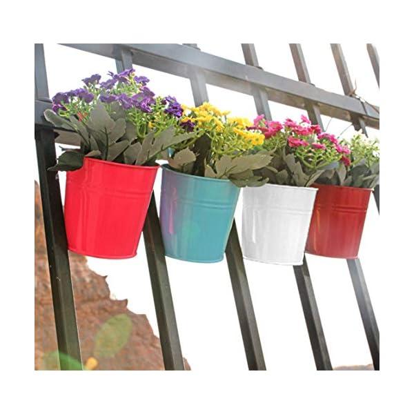 Depory metallo ferro solido colore vaso di fiori vaso da appendere per balcone o piante da giardino con gancio… 3 spesavip
