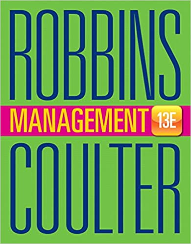 management 13th edition stephen p robbins mary a coulter