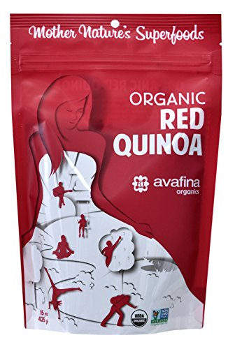 Avafina Organics - Mother Natures Super Foods - Organic Red Quinoa - 15 Ounce Bag by Avafina Organics