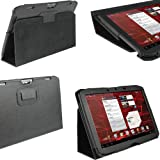 "iGadgitz Black PU Leather Case Cover for Motorola Xoom 2 Droid Xyboard 10.1"" 16GB Wi-Fi Android Tablet"