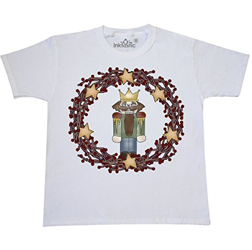 inktastic - Wreath with Nutcracker Youth T-Shirt Youth X-Large (18-20) (20 Snowman Wreath)