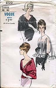 Años Sesenta Vogue patrón 6122chaqueta y capa, Vintage tamaño grande (pecho 38–40)