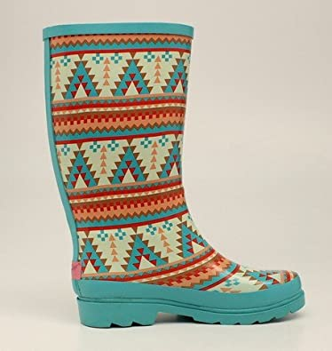 Blazin Roxx Women's Dakota Southwestern Rain Boot Round Toe