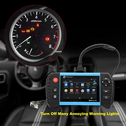 Car Code Reader –TOPDON OBD2 Scanner with Android Based 5 0 Touch Screen,  All Systems with DPF/ABS/SAS/SRS/EPB/BMS Functions