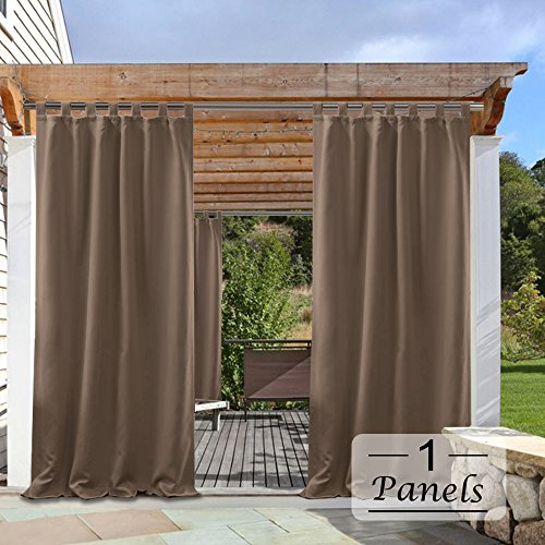 Cheap  PONY DANCE Outdoor Curtain Panels - Solid Energy Efficient Tab Top Thermal..
