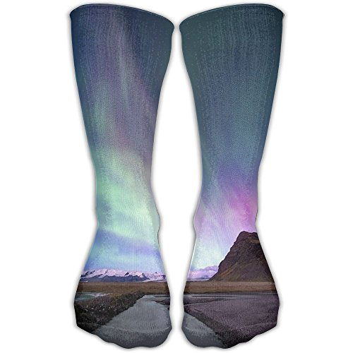Fashion Design Aurora Polaris Light Crew Socks Long Christmas Socks For - Place Fashion Polaris