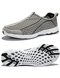 Mens Water Shoes Beach Barefoot Aqua Wetsuits for Water Sports Snorkeling Diving Swimming Surfing