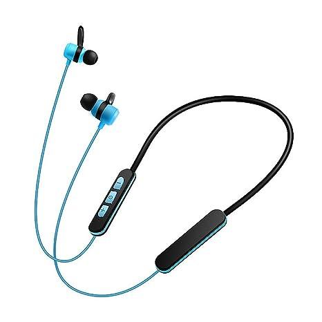 Auriculares Inalámbricos In Ear MUTOUREN Cascos Bluetooth con Sonido Estéreo Llamadas a Manos Libres Azul