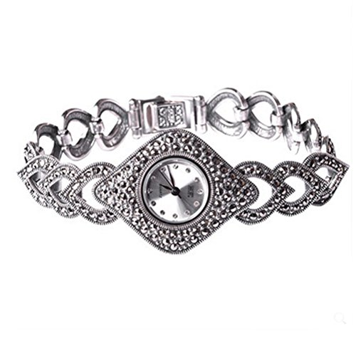 - Thail Sterling Silver Marcasite Women's Antique Watch Women's Jewelry