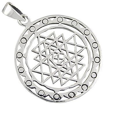 Sri yantra pendant 925 silver amazon jewellery sri yantra pendant 925 silver aloadofball Image collections