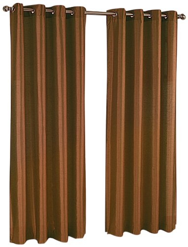 (Stylemaster Tribeca Faux Silk Grommet 56-Inch by 95-Inch Window Panel,)