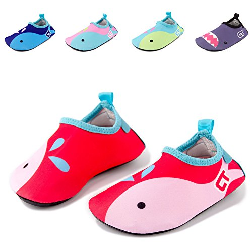 Price comparison product image Baby Girls Water Shoes Toddler Kids Swim Shoes for Boys Pool Beach Quick Drying Barefoot Aqua Socks Lightweight Whale PRT1