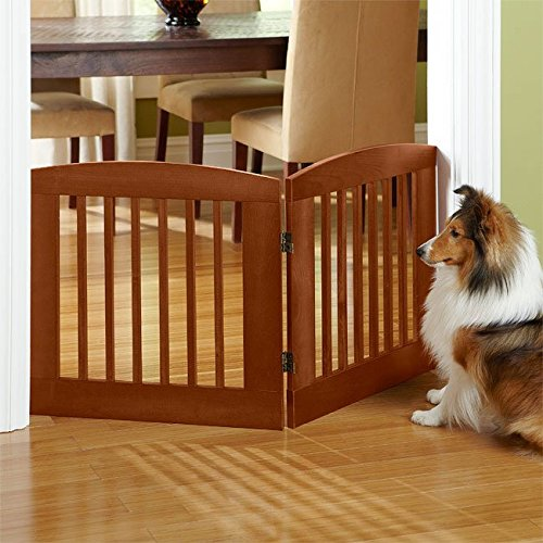 Cheap Orvis Panel Zig-zag Dog Gates / 24″ h Two-panel Gate: Covers Up To A 3′ Span, Weighs 9 1/2 Lbs, Cinnamon