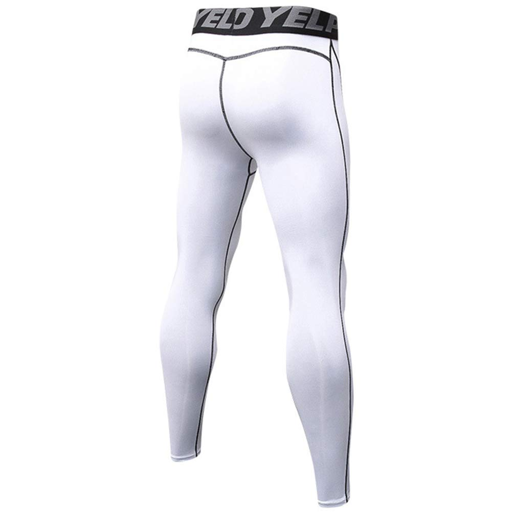 ZhuiKunA Uomo Leggings Palestra Bodybuilding Compressione Gambale Collant Fitness