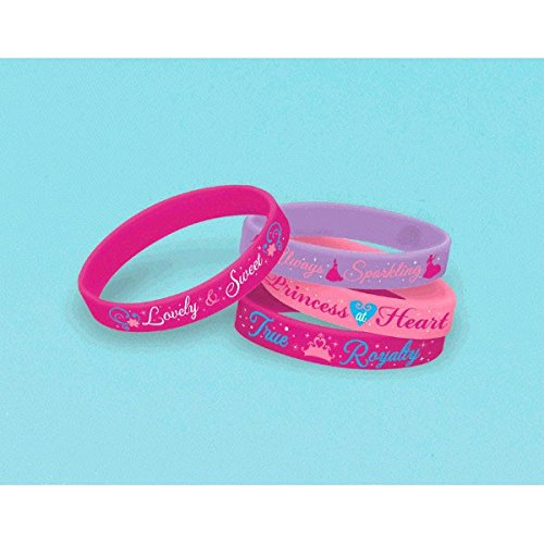 Disney Princess Rubber Bracelets, 4 Count, Party Supplies by American Greetings