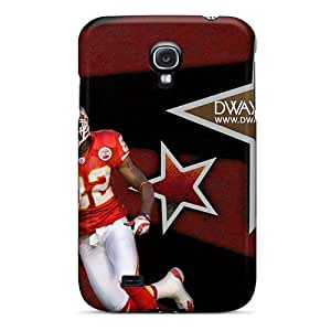 High Quality Mobile Cases For Samsung Galaxy S4 With Allow Personal Design Realistic Kansas City Chiefs Pictures LisaSwinburnson