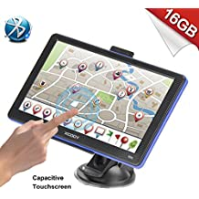 Xgody 886BT Portable Car Truck GPS Navigation System Bluetooth 8GB ROM 7 Inch Capacitive Touchscreen SAT NAV Navigator with Lifetime Maps with 8GB TF Card