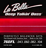 LaBella 760FL Deep Talkin\' Bass Flat Wound Light Electric Bass Strings