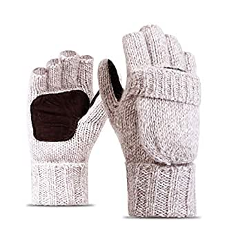 Amazon.com: MALLOOM Men Women Warm Winter Gloves Wool