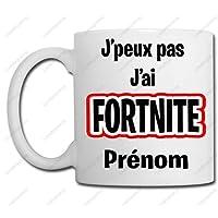 Linyatingoshop Mug J'peux Pas J'Ai Fortnite + Prénom - Idée Cadeau Noël