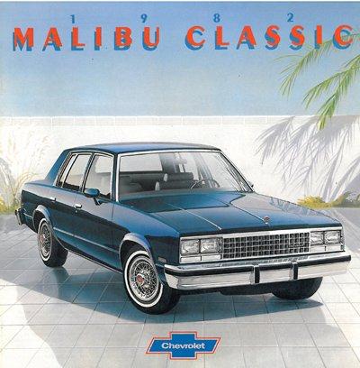 1982 Chevrolet Chevy Malibu Classic Sales Brochure